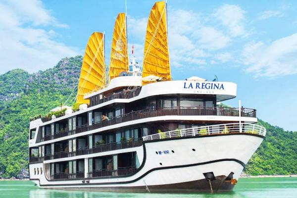 Combo du lịch Vịnh Hạ Long tại Du thuyền La Regina Royal Cruises 5 sao 2 ngày 1 đêm
