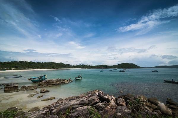 Ngút mắt nét hoang sơ, yên bình của bãi Khem Phú Quốc