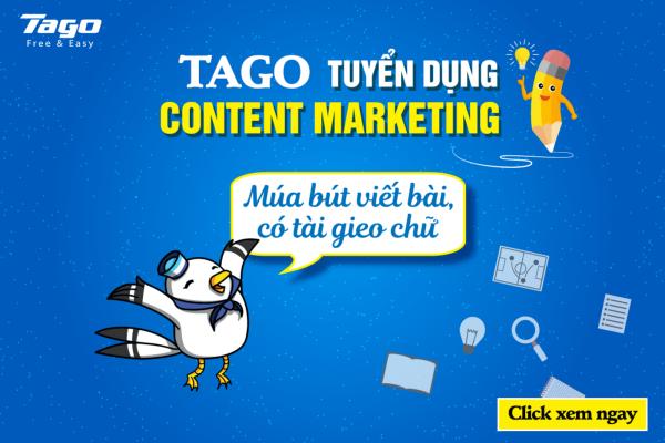 [Hà Nội] Tago tuyển dụng vị trí Content Marketing tháng 1 năm 2019